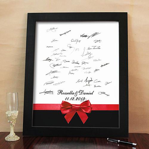 персонализированные кадров холст подписи - красным бантом (включает в себя кадр) Lightinthebox 1589.000