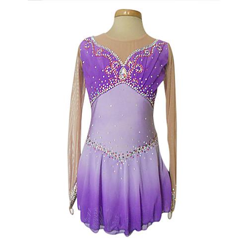 Тупой свет Спандекс Эластичная Чистая фигурному катанию одежда Фиолетовый Lightinthebox 5757.000