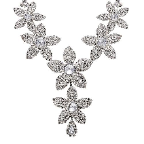 великолепный сплав стразами свадьбы свадебный ожерелье и серьги комплект ювелирных изделий Lightinthebox 618.000