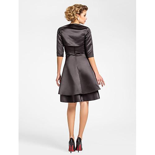 JERA - Платье для дам из атласа с накидкой