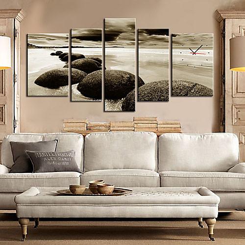 современных морских камней Настенные часы в холст 5шт Lightinthebox 4726.000