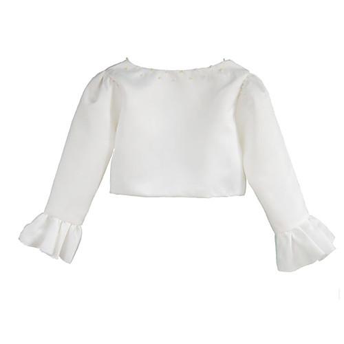 Детские куртки 3/4 длины рукава атласной особых поводов / Свадебные Wrap Lightinthebox 837.000