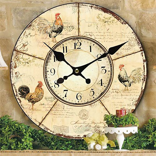 Страна цветочные и животные настенные часы Lightinthebox 1718.000