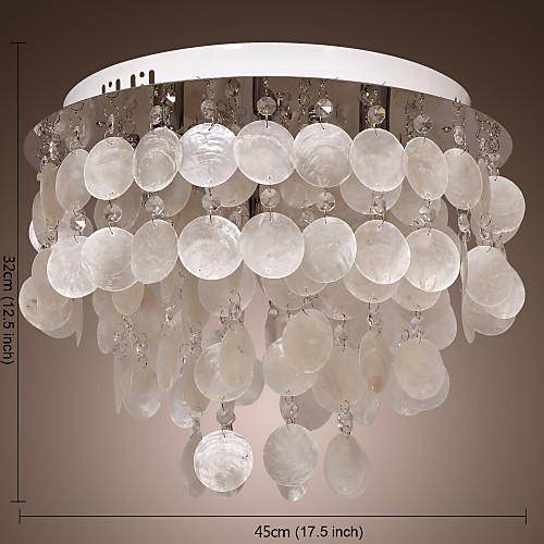 Люстра White Shell Shade, 4 лампочки Lightinthebox 4296.000
