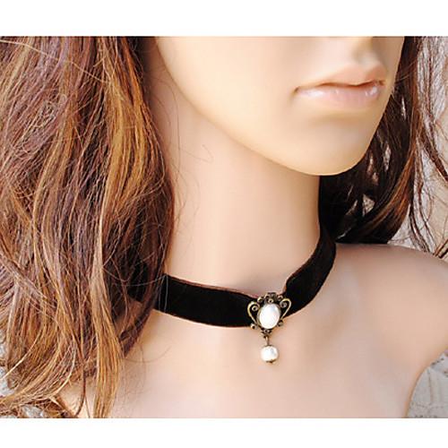Женские готические черные Royal Velvet Жемчужное ожерелье Lightinthebox 300.000
