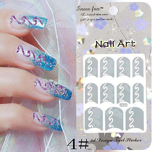3PCS бумаги Nail Art Stamp Изображение Наклейки LK Серия № 1 (разных цветов) Lightinthebox 171.000