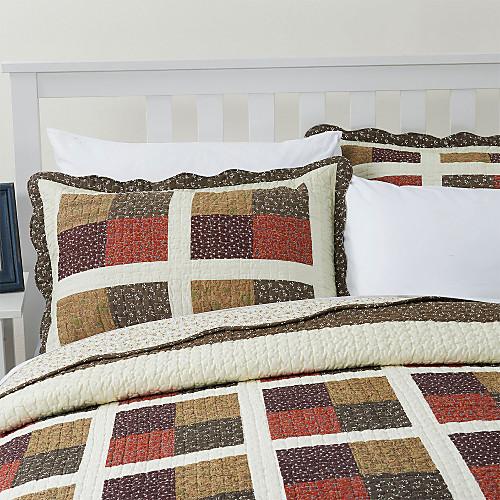 3-х частей Белла плед лоскутное одеяло хлопка королевой набор Lightinthebox 3866.000