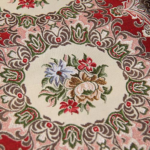 Традиционные полиэстер хлопок жаккард Красный цветочные Бегуны таблице Lightinthebox 1181.000