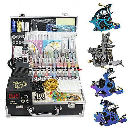 4 орудия татуировки комплекте с ЖК власти и 55 цветных чернил Lightinthebox 9023.000