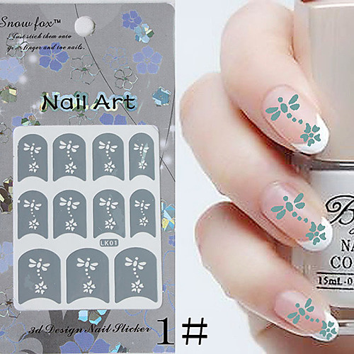 3PCS бумаги Nail Art Stamp Изображение Наклейки LK Серия № 1 (разных цветов) Lightinthebox 171.000