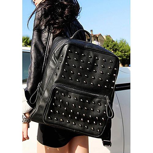 Вместительный модный женский рюкзак с заклепками Lightinthebox 1847.000
