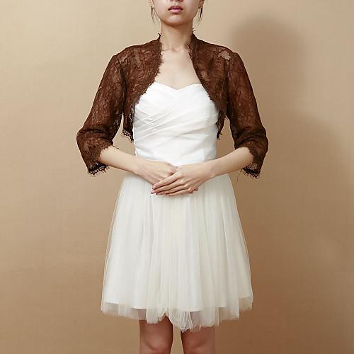 3/4 рукав кружева вечера / свадебные Wrap / куртку (больше цветов) Lightinthebox 1546.000
