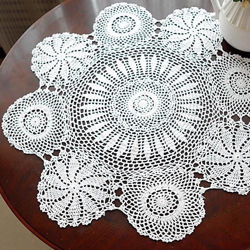 Ручной крючком белое марочное Скатерть Look Lightinthebox 407.000