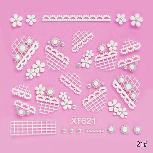 5PCS 3D White Lace ногтей наклейки NO.5 Свадебные (разных цветов) Lightinthebox 128.000