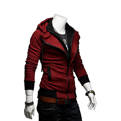 мужская контрастного цвета балахон тонкий пиджак от Lightinthebox.com INT