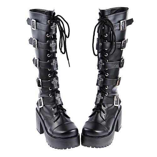 Высокие ботинки с каблуком 8 см для косплея готической Лолиты Lightinthebox 5156.000