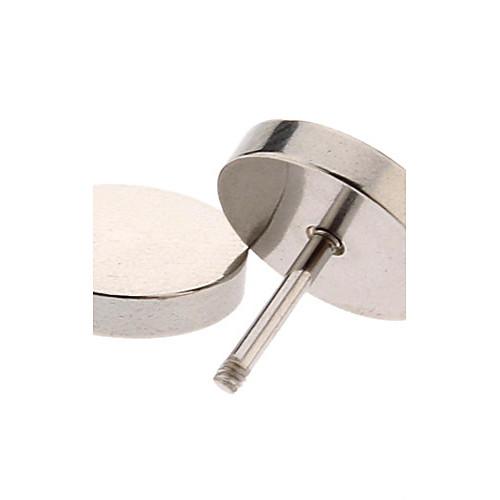 10 мм из нержавеющей стали Круглый Стад Серьги (серебро) Lightinthebox 89.000