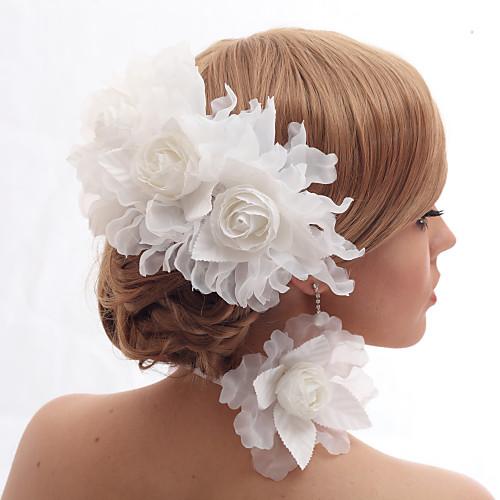 Красивые шелкография / имитация жемчуга и кружева Свадьба / Цветочный головной убор невесты Lightinthebox 515.000