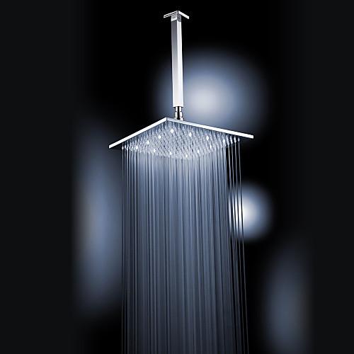 Хромированная отделка латунь 12-дюймовые Белый светодиодный площади душем потолочные Lightinthebox 4296.000