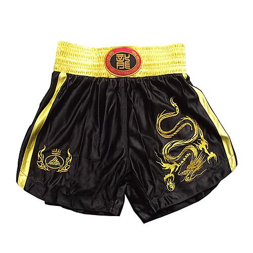 Профессиональные шорты для кик-боксинга с вышитым драконом. Черные, без размера