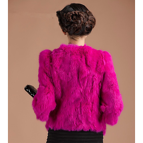 3/4 рукав воротника мехом кролика Casual / Партия Jacket (другие цвета) Lightinthebox 4300.000