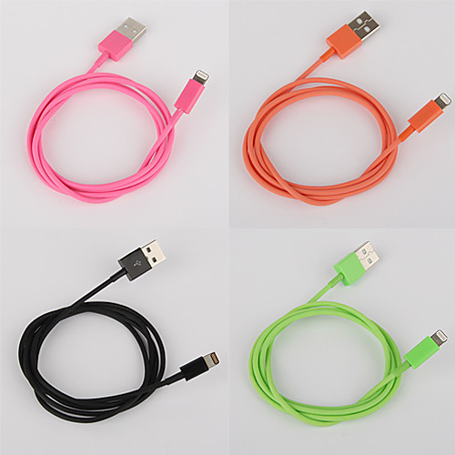 8-контактный красочный заряд и данных плоский кабель для мобильный 6 iPhone 6 плюс iPhone 5, Ipad мини, ipad4, ставку (100см-длина) Lightinthebox 131.000