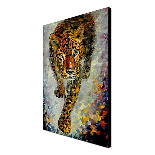 Hand Painted Картина маслом Животного Тигра 1304-AN0067 Lightinthebox 3437.000