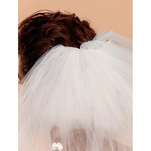 Трехуровневая вальс Свадебная фата с обрезной кромкой Lightinthebox 429.000