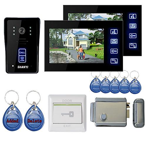 7-дюймовый цветной видеотелефон с бесщеточным видео с 2 мониторами ночного видения rfid keyfobs электронный блокирующий замок от Lightinthebox.com INT