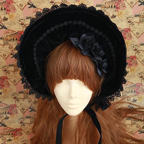 Handmade Черная роза лук Velvet Классическая Лолита Bonnet Lightinthebox 2148.000