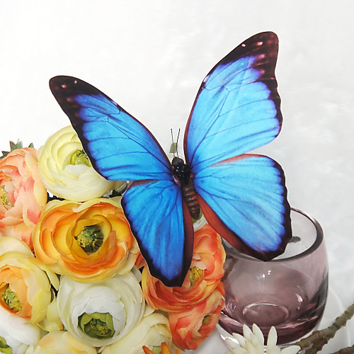 Красивый голубой бабочки пластиковые (набор из 6) Lightinthebox 422.000