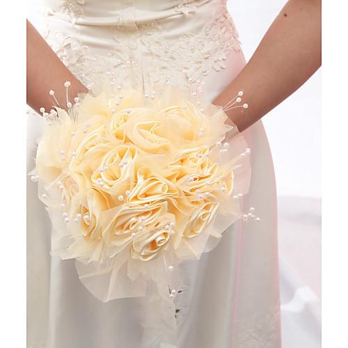 Свадебные искусственные букеты своими руками