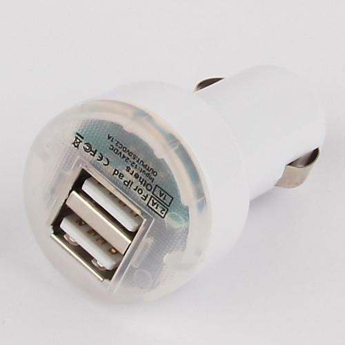 Светодиодный индикатор Dual USB порт автомобильное зарядное устройство с 100см 8-контактный кабель для Ipad мини, Iphone 5, IPad 4 (DC12-24V, 2.1A) Lightinthebox 257.000