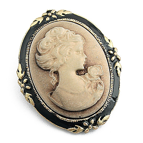 Силуэт Pattern Vintage брошь королевы Lightinthebox 214.000