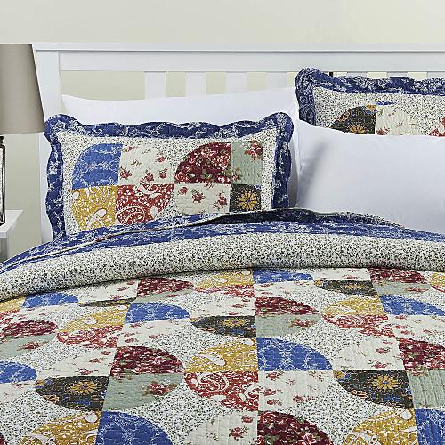 3-х частей многоцветный цветочные хлопка королева одеяло набор Lightinthebox 3394.000