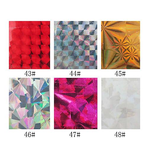 1шт лазерные фольги ногтя украшения звездные наклейки для ногтей № 43-48 (130x4.5x0.1cm, разные цвета) Lightinthebox 85.000