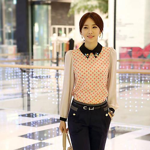 Женская шифоновая блузка с расшитым кристаллами воротником Lightinthebox 837.000
