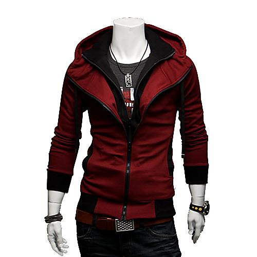 мужская контрастного цвета балахон тонкий пиджак