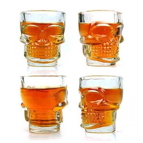 Бокал для виски на 2.5oz в форме черепа (набор из 4) Lightinthebox 429.000