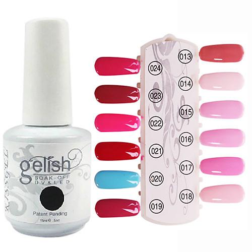 1PCS блестками УФ цветной гель лак для ногтей № 13-24 Soak-офф (15 мл, разных цветов) Lightinthebox 326.000