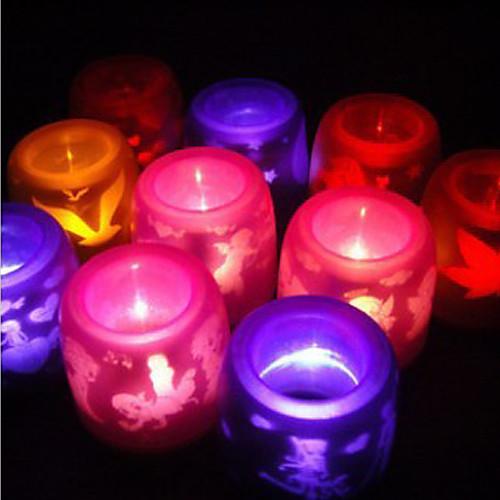 электронные беспламенное свет водить свечки (случайный цвет)