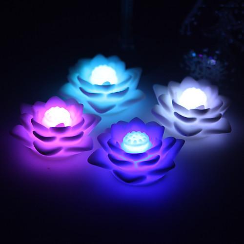 хорошая Lutos виниловые светодиодные лампы - комплект из 4 (изменение цвета, встроенные в ячейке боты) Lightinthebox 174.000