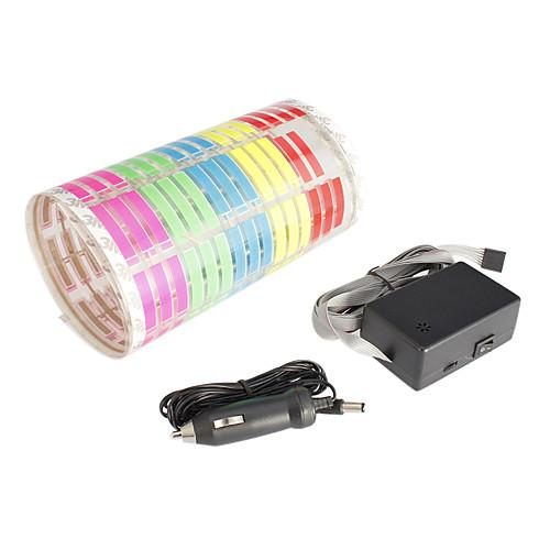 красочные вспышки автомобиля наклейку ритм музыки светодиодные лампы звуковой активации эквалайзера Lightinthebox 1030.000