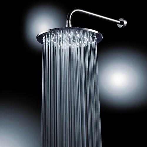 Хромированная отделка латунь 10-дюймовые Белый светодиодный круглый душем потолочные Lightinthebox 3866.000
