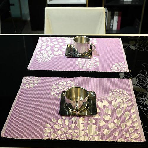 Набор из 4 Фиолетовый цветочный коврик хлопок Lightinthebox 601.000