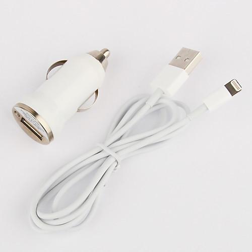 крошечные автомобильное зарядное устройство с 100см яблочного 8-контактный кабель для мобильный 6 iPhone 6 плюс мобильный 5, ставку (DC12-24V, 1а) Lightinthebox 171.000