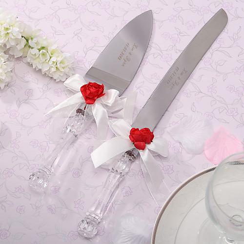 персонализированных красная роза и белый свадебный торт атлас выступающей набор Lightinthebox 515.000