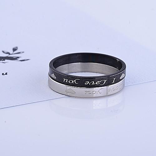Я тебя люблю титановые кольца стали парой Lightinthebox 128.000