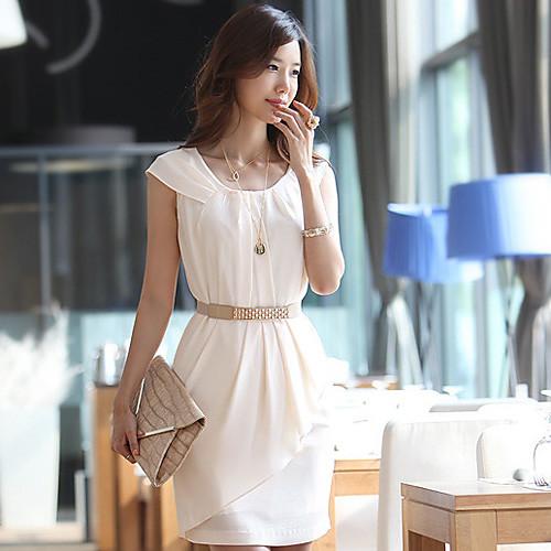 Платье со складками (ремень в комплекте) Lightinthebox 977.000