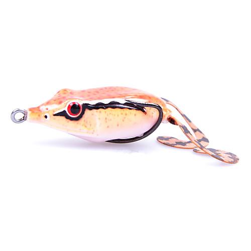 Мягкие приманки Sharp Mouth двойной крючок и хвост Мягкие приманки лягушка 50MM 10G (цвет случайный) Lightinthebox 257.000